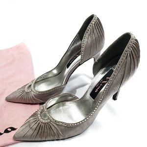 Nina Silver Rhinestone Fancy Heels